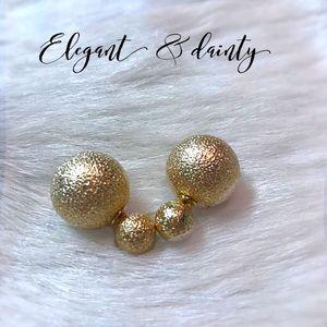 NEW!  Elegant Double-Ball Earrings